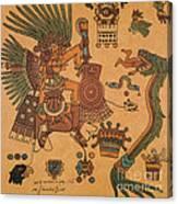 Quetzalcoatl, Aztec Feathered Serpent Canvas Print