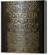 Quick Aid Extinguisher Canvas Print