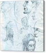 Quick Sketches Canvas Print