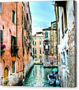 Quiet Canal Canvas Print