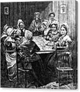 Quilting Party, 1864 Canvas Print