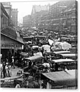 Quincy Market From Faneuil Hall - Boston - C 1906 Canvas Print
