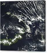 Rabaul Volcano On The Island Of Papua Canvas Print