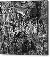 Rabelais: Gargantua And Pantagruel.  Illustration Of The Life Of Gargantua And Of Pantagruel By Fran�ois Rabelais. Wood Engraving, 1873, After Gustave Dor� Canvas Print