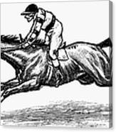 Race Horse, 1900 Canvas Print