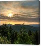 Radar Hill Sunset - Tofino Bc Canada Canvas Print