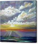 Radiance - Square Sunset Canvas Print