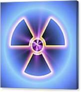 Radiation Warning Sign Canvas Print