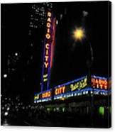 Radio City Music Hall - Greeting Card Canvas Print