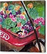 Radio Flyer Garden Canvas Print