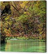 Radovna River In Vintgar Gorge Slovenia Canvas Print