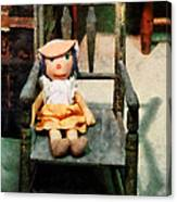 Rag Doll In Chair Canvas Print