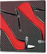 Raging Red Open Toed Stilettos Canvas Print