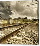 Rail Contrasts Canvas Print