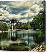 Rail Swing Bridge Canvas Print