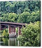 Railroad Bridge At East Falls Philadelphia Canvas Print