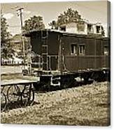 Railroad Car And Wagon Canvas Print