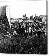 Railroad Collision Canvas Print