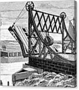 Railroad Drawbridge, 19th Century Canvas Print