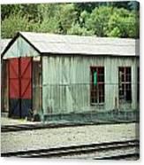 Railroad Woodshed 2 Canvas Print