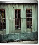 Railroad Woodshed Canvas Print