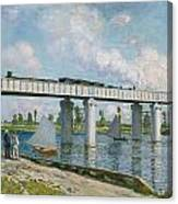 Railway Bridge At Argenteuil Canvas Print