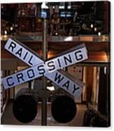 Railway Crossing Canvas Print