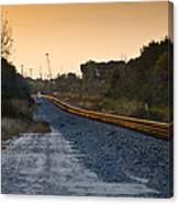 Railway Into Town Canvas Print