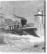 Railway Snow Plough, 1862 Canvas Print