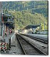 Railway Station West Interlaken Switzerland Canvas Print
