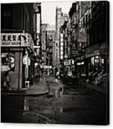 Rain - Pell Street - New York City Canvas Print