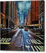 Rain On Park Avenue Canvas Print