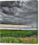 Rain Rolling In On The River Canvas Print