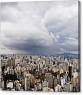 Rain Shower Approaching Downtown Sao Paulo Canvas Print