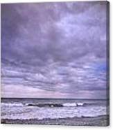 Rain Storm At The Sea Canvas Print