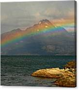 Rainbow At The End Of The World  Canvas Print