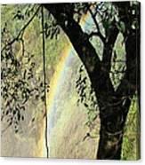 Rainbow At Victoria Falls Canvas Print