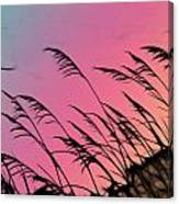 Rainbow Batik Sea Grass Gradient Silhouette Canvas Print