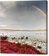 Rainbow By The Lake Canvas Print