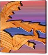 Rainbow Dinosaur Fish Canvas Print