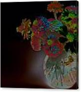 Rainbow Flowers In Glass Globe Canvas Print