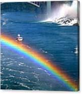 Rainbow On Niagara Falls Canvas Print