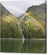 Rainbow Over Forest, Endicott Arm Canvas Print