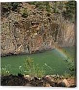 Rainbow Over The Creek Canvas Print