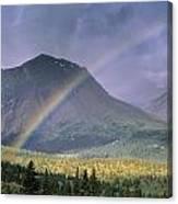 Rainbow Over Willmore Wilderness Park Canvas Print