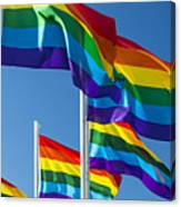Rainbow Pride Flags Canvas Print