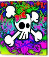 Rainbow Skull 1 Of 6 Canvas Print
