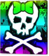 Rainbow Skull 4 Of 6 Canvas Print