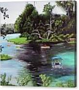 Rainbow Springs In Florida Canvas Print