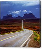 Rainclouds Over Monument Valley Canvas Print